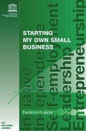Starting my own small business: a training module - unesdoc - Unesco