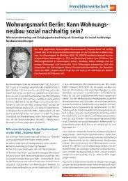 12/2013 Kann Wohnungsneubau sozial nachhaltig sein?