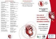 Follow up del paziente con cardiopatia ischemica cronica - Anmco