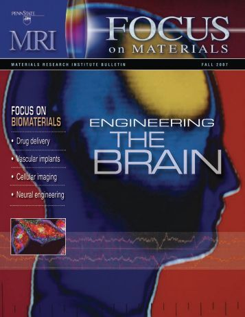 FOCUS ON BiOmaterialS - Department of Engineering Science and ...