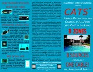 CATS Colored Brouchure - Pragmatic Communications Systems