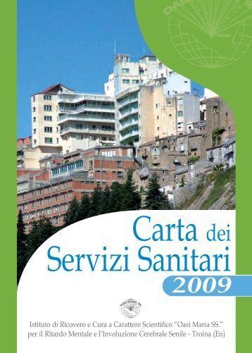 Carta dei servizi Oasi - Oasi Città Aperta