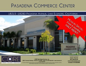 PASADENA COMMERCE CENTER - Gisplanning.net