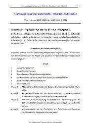 Technische Regeln für Gefahrstoffe - TRGS 600 - Substitution