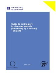 Guide to taking part in planning appeals proceeding by a hearing