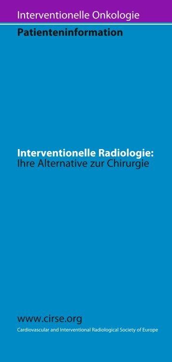 Interventionelle Onkologie
