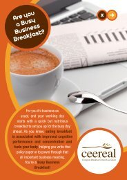 Are you a Busy Business Breakfast? - CEEREAL, The European ...