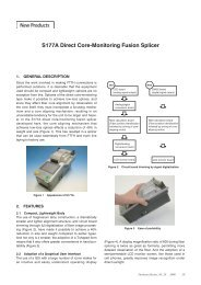 S177A Direct Core-Monitoring Fusion Splicer New Products