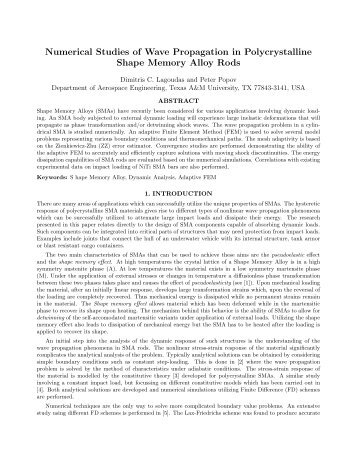 Numerical Studies of Wave Propagation in Polycrystalline Shape ...