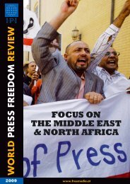focus on the middle east & north africa - International Press Institute