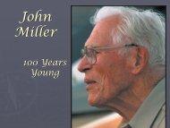 remembering John Miller