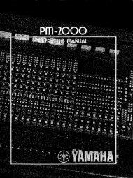 PM-2000 - Yamaha