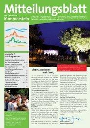 Mitteilungsblatt Juli-August 2012 (PDF) - Gemeinde Kammerstein