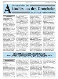 Für die Ausgabe am Donnerstag nach Ostern, 27. März 2008, KW ...