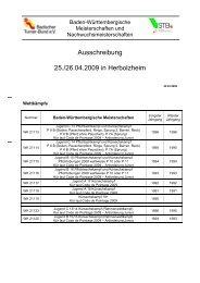 Ausschreibung 25./26.04.2009 in Herbolzheim