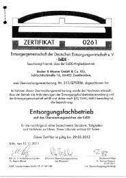 EfbV-Zertifikat 2012-2013 - Jakob Becker Unternehmensgruppe