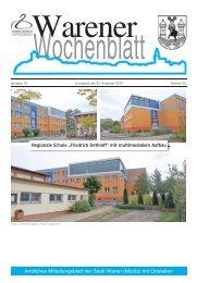 Herzliche Glückwunsche des Bürgermeisters der Stadt Waren - Müritz