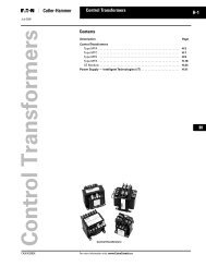 Eaton Control Transformers - of downloads