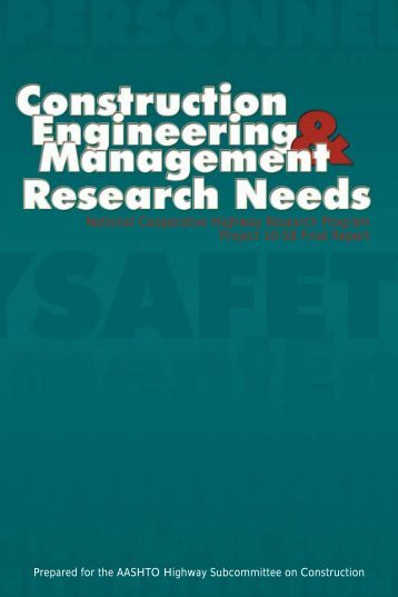 Construction Engineering and Management Research Needs