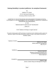 Valuing flexibility in product platforms: An ... - Title Page - MIT