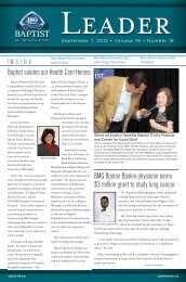 September 7, 2012 - Baptist Memorial Online
