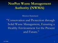 NorPen Waste Management Authority (NWMA) - Municipalities ...