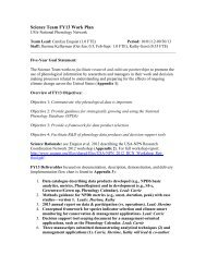 Science Team Work Plan FY13v3 - USA National Phenology Network