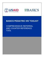Comprehensive Referral and Counter Reference Tool for ... - basics
