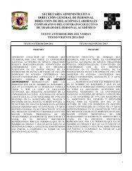 secretaría administrativa dirección general de personal dirección de ...