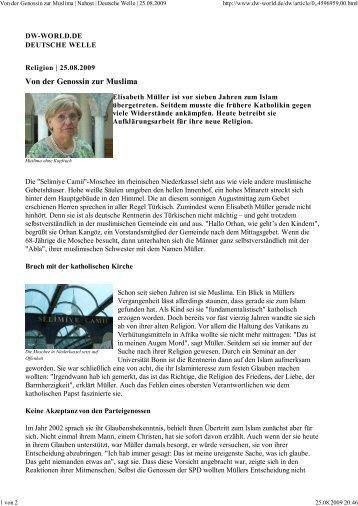 Von der Genossin zur Muslima - Muslime in Niederkassel