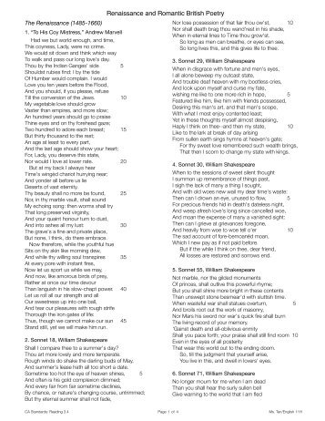 R squared British Poetry - Rowland High School