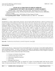 STUDY OF ALTERATION IN SERUM LIPIDS BY ...