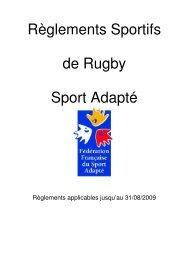 Réglement Rugby FFSA - Comité Départemental Sport Adapté du ...
