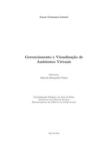 Gerenciamento e Visualizaç˜ao de Ambientes Virtuais - GCG - UFJF