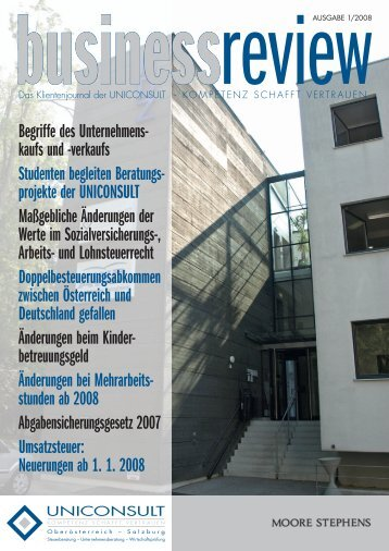 Business Review 2008 Nr. 1 - Uniconsult