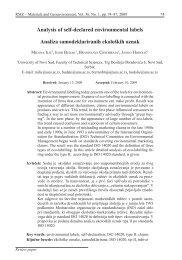 Analysis of self-declared environmental labels Analiza ... - RMZ