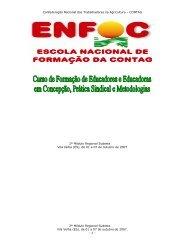 caderno de textos ii modulo curso sudeste enfoc/2007 - Contag