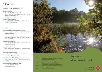 Addresses Experience Müritz National Park - Nationalpark Müritz