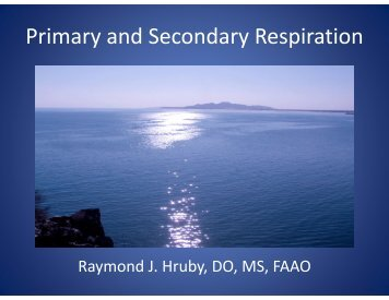 Primary and Secondary Respiration - American Academy of ...