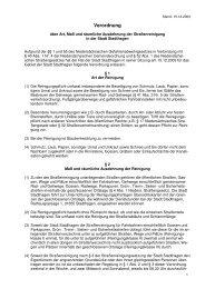 2. Verordnung Straßenreinigung mit Straßenverzeichnis - Reinsen.de