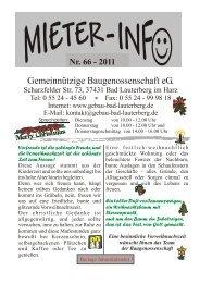 Download: Mieter Info 2011 - Gemeinnützige Baugenossenschaft eG