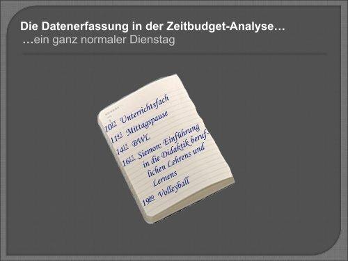Die Erfassung… - ZHW - Universität Hamburg