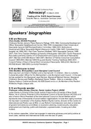 Speakers' biographies - NCOSS