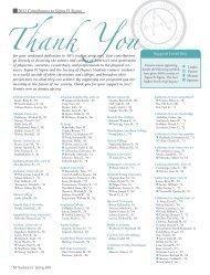 2012 Contributors to Sigma Pi Sigma