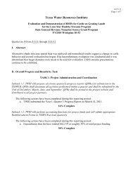 Q4, 3/1/2011 - Lone Star Healthy Streams Program
