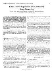 Blind Source Separation for Ambulatory Sleep ... - IEEE Xplore