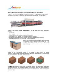 SMI Wrap-around case-packers: innovative packaging and high ...