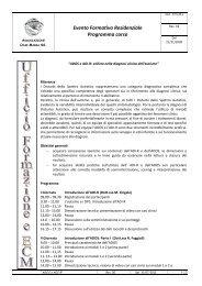Evento Formativo Residenziale Programma corso - Oasi Città Aperta