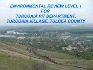 environmental review level 1 for turcoaia pit department, turcoaia ...