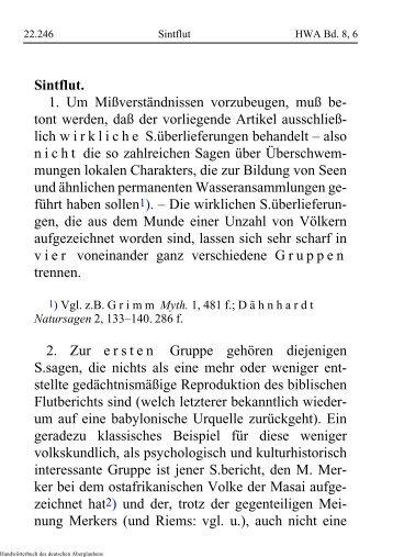 Sintflut - Schauungen.de